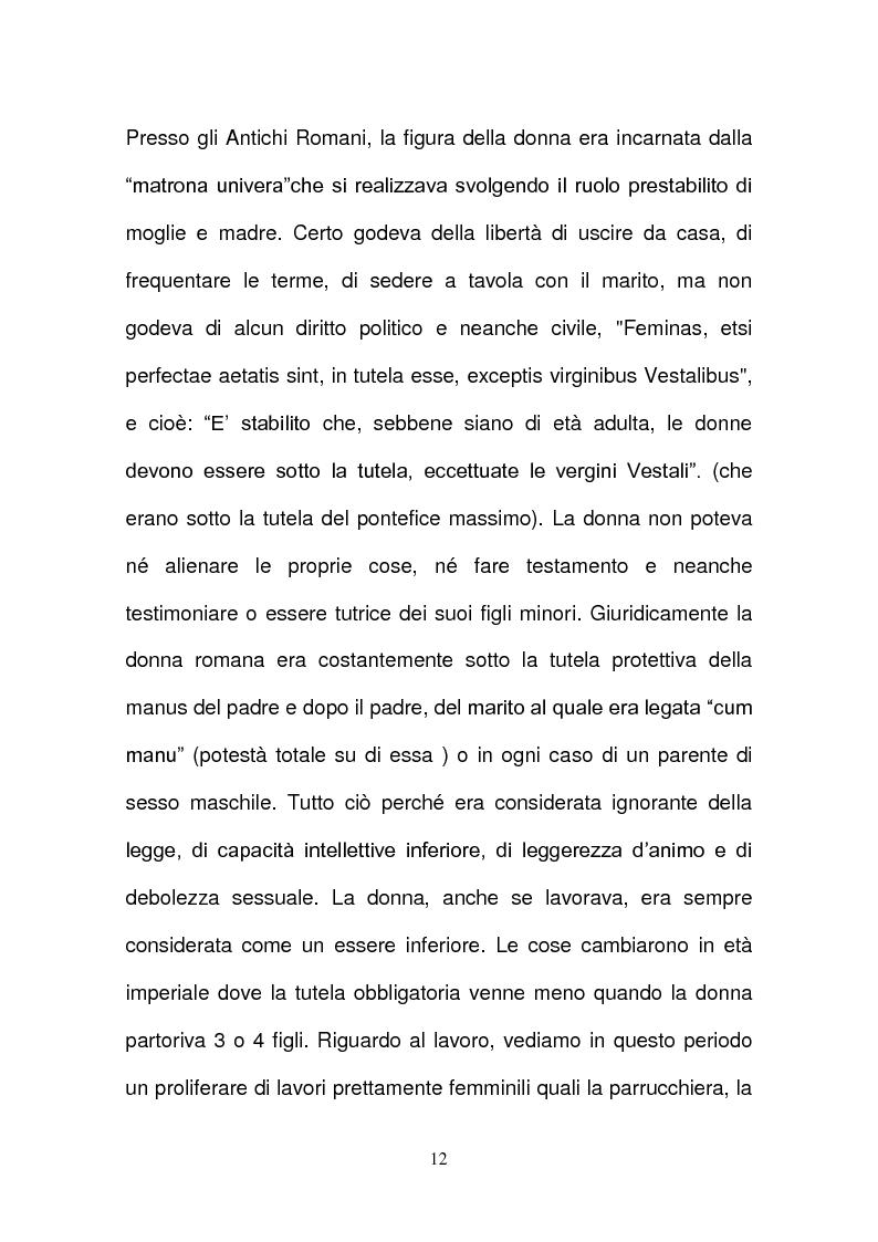 Anteprima della tesi: L'evoluzione della tutela della lavoratrice madre nel mondo del lavoro., Pagina 9