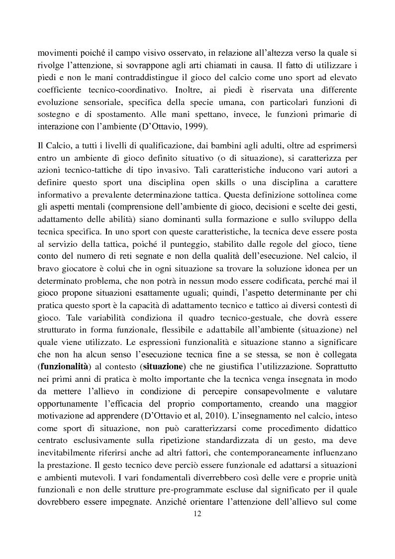 Anteprima della tesi: Il metodo Coerver Coaching applicato ai calciatori della categoria Esordienti, Pagina 10