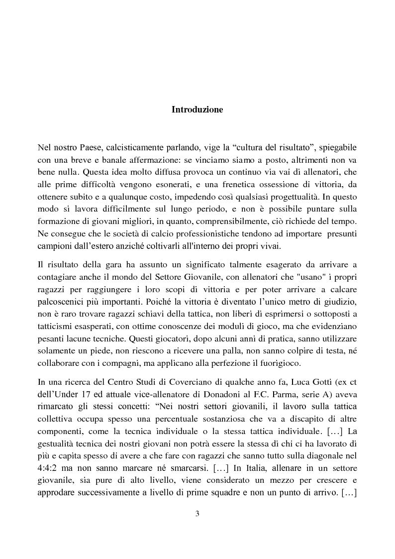 Anteprima della tesi: Il metodo Coerver Coaching applicato ai calciatori della categoria Esordienti, Pagina 2