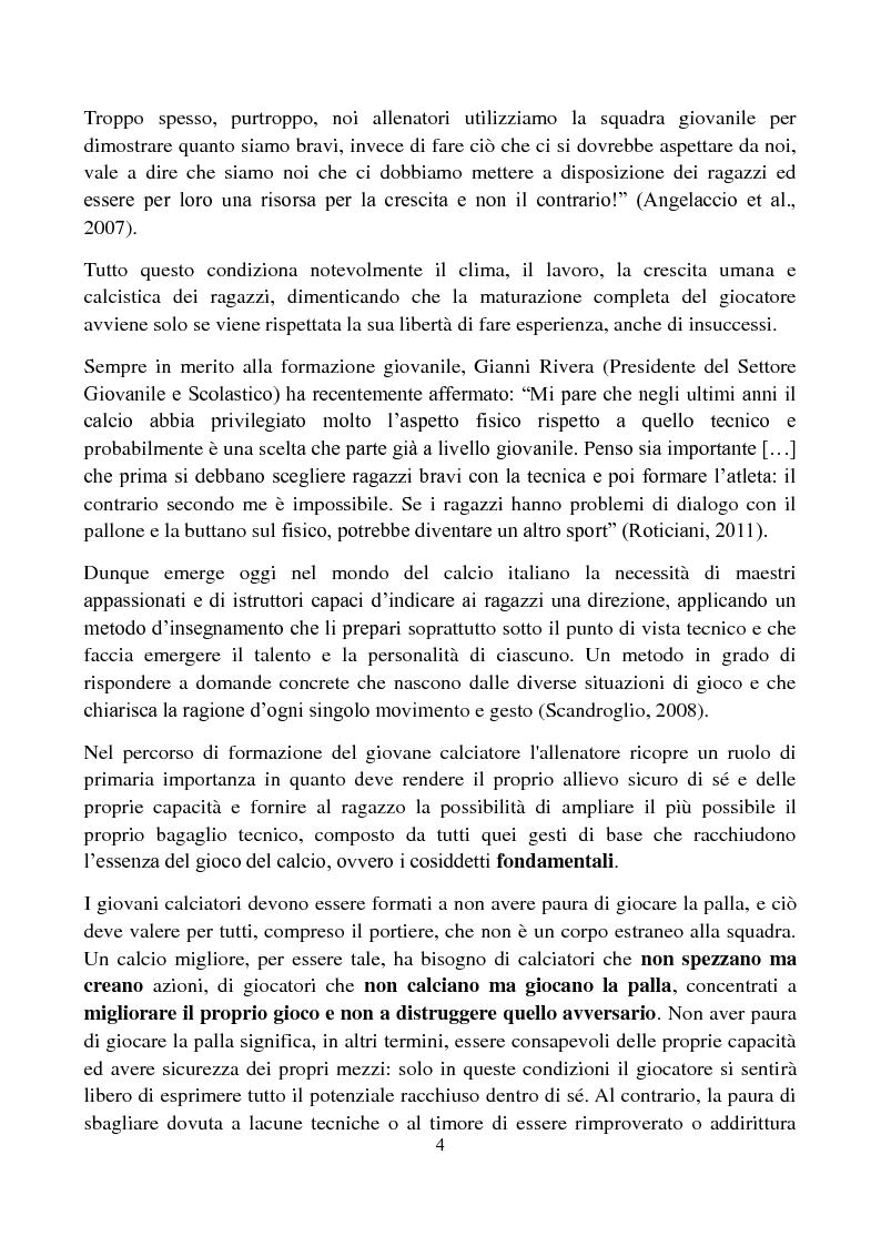 Anteprima della tesi: Il metodo Coerver Coaching applicato ai calciatori della categoria Esordienti, Pagina 3