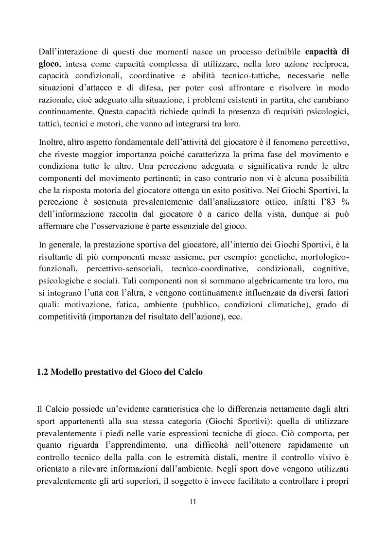 Anteprima della tesi: Il metodo Coerver Coaching applicato ai calciatori della categoria Esordienti, Pagina 9
