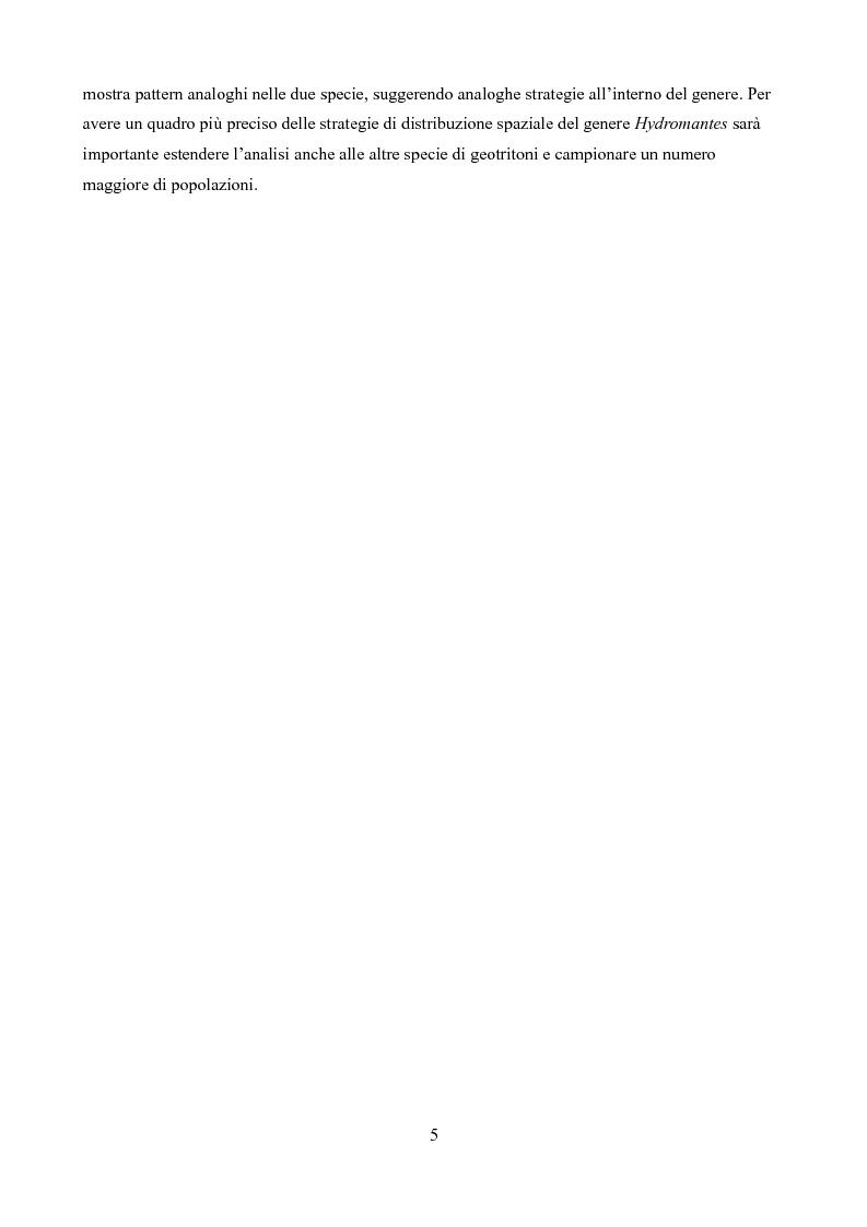 Anteprima della tesi: Caratteristiche delle Grotte e Distribuzione dei Geotritoni (Hydromantes italicus, Amphibia) sull'Appennino Toscano, Pagina 3