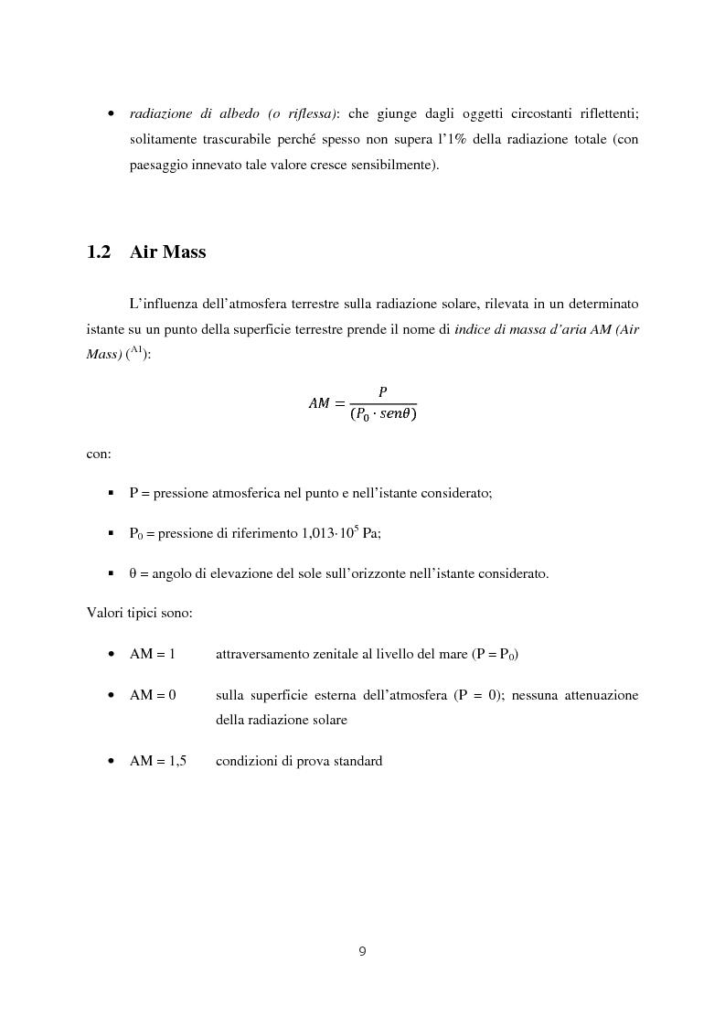Anteprima della tesi: Progetto di impianto fotovoltaico connesso alla rete in bassa tensione, Pagina 3
