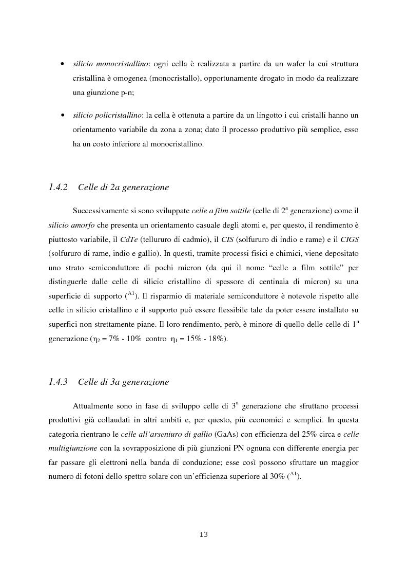 Anteprima della tesi: Progetto di impianto fotovoltaico connesso alla rete in bassa tensione, Pagina 7