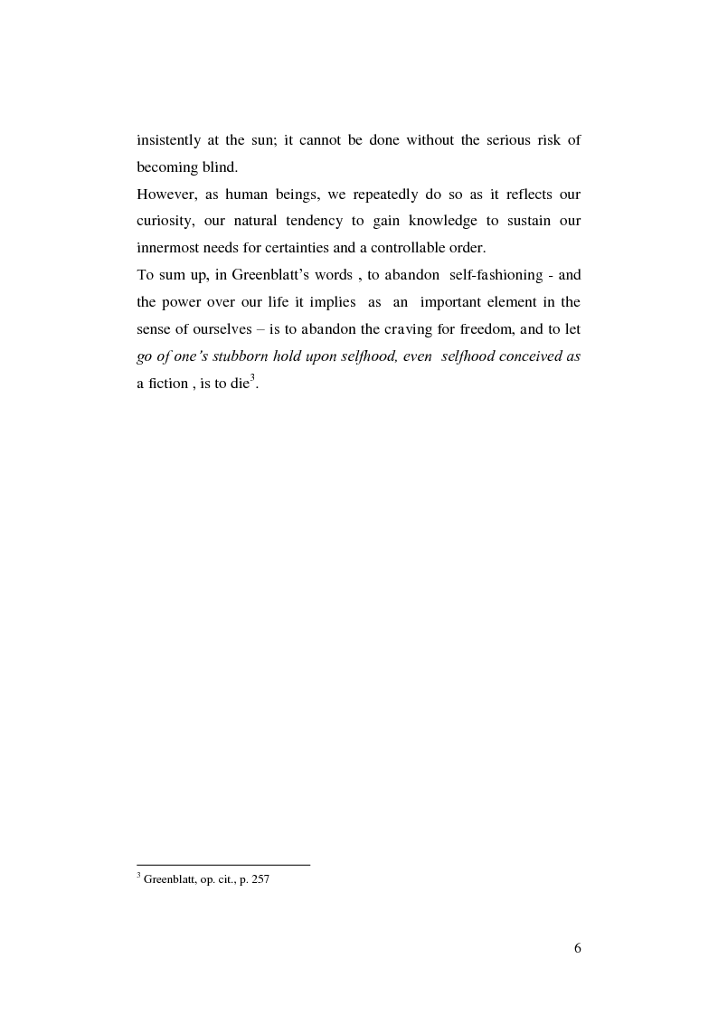 Anteprima della tesi: Renaissance Self-Fashioning: ''Epicoene'' by Ben Jonson, Pagina 4