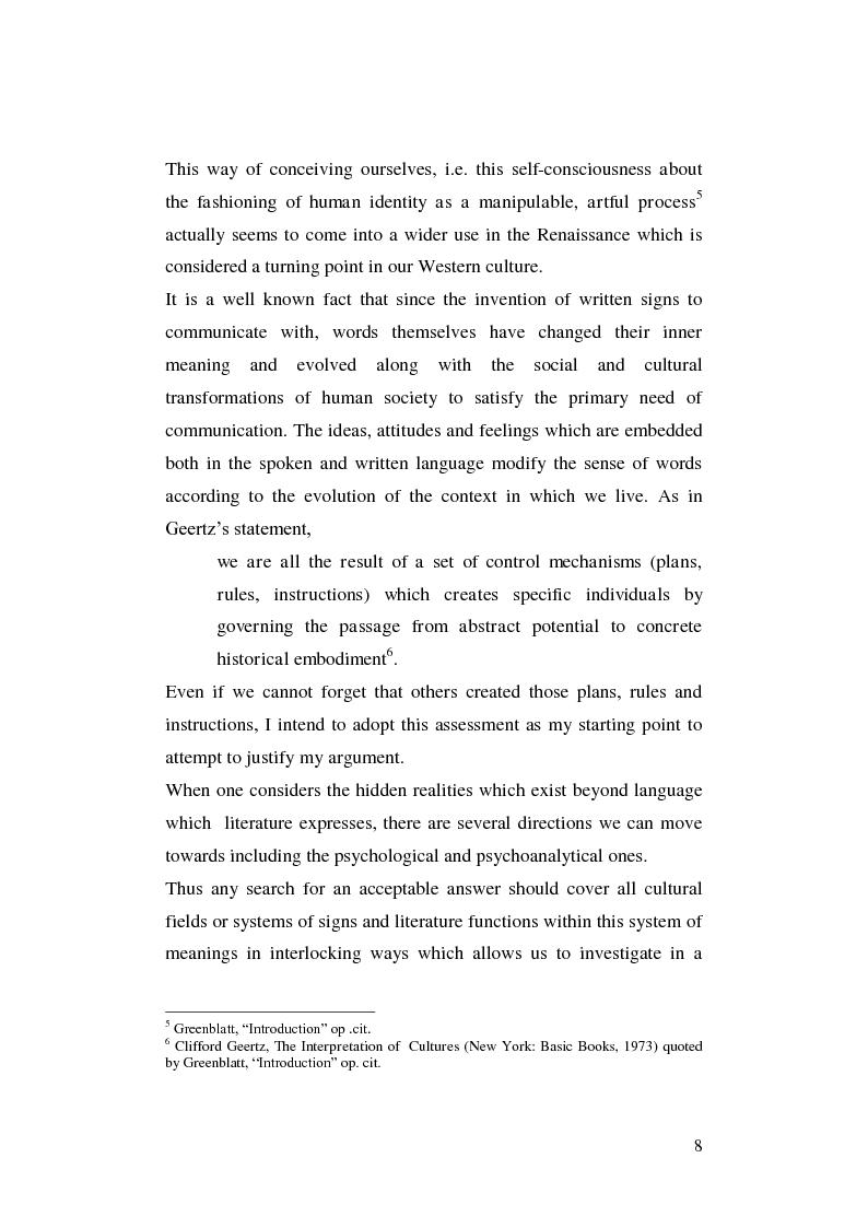 Anteprima della tesi: Renaissance Self-Fashioning: ''Epicoene'' by Ben Jonson, Pagina 6