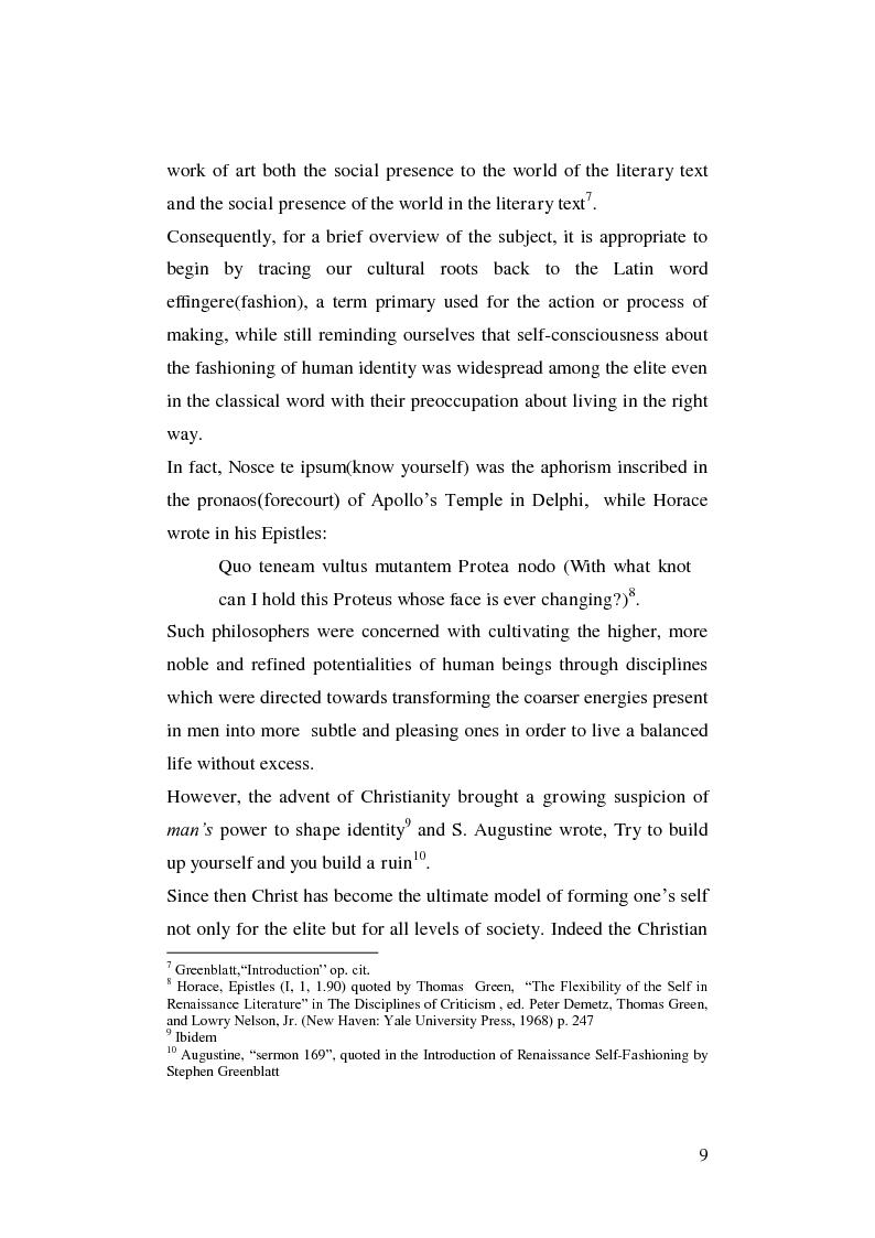 Anteprima della tesi: Renaissance Self-Fashioning: ''Epicoene'' by Ben Jonson, Pagina 7