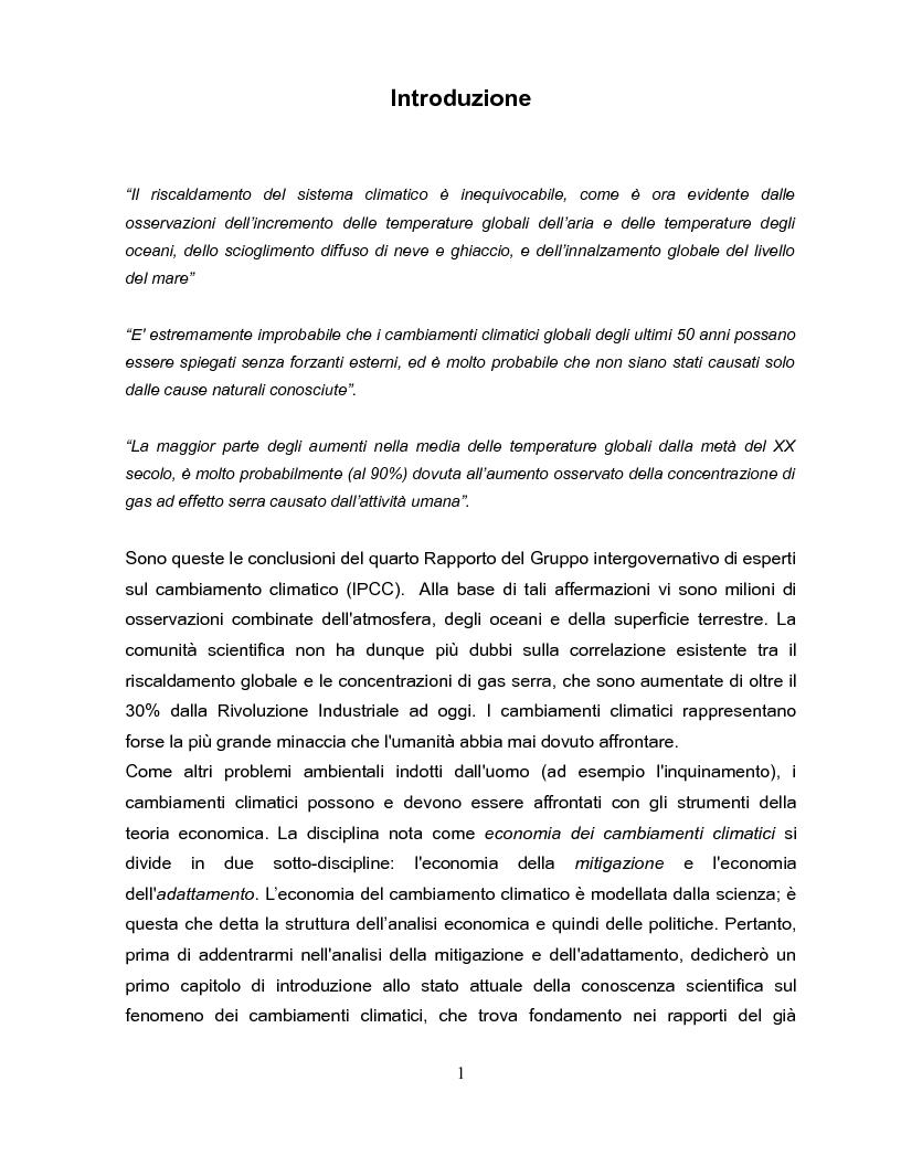 Anteprima della tesi: Economia dei cambiamenti climatici e vulnerabilità nei paesi in via di sviluppo, Pagina 2