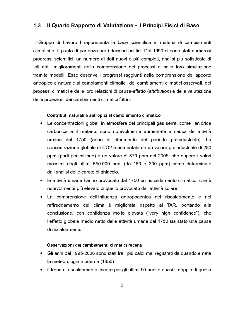 Anteprima della tesi: Economia dei cambiamenti climatici e vulnerabilità nei paesi in via di sviluppo, Pagina 6