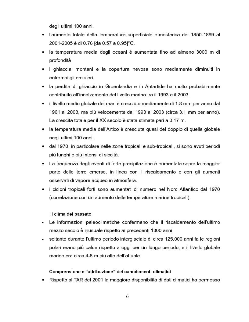 Anteprima della tesi: Economia dei cambiamenti climatici e vulnerabilità nei paesi in via di sviluppo, Pagina 7