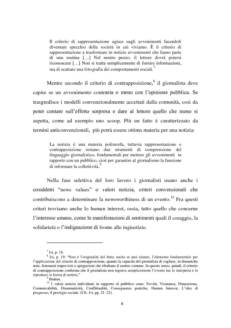 Anteprima della tesi: Dalla notizia al romanzo: volti diversi della cronaca nera, Pagina 6