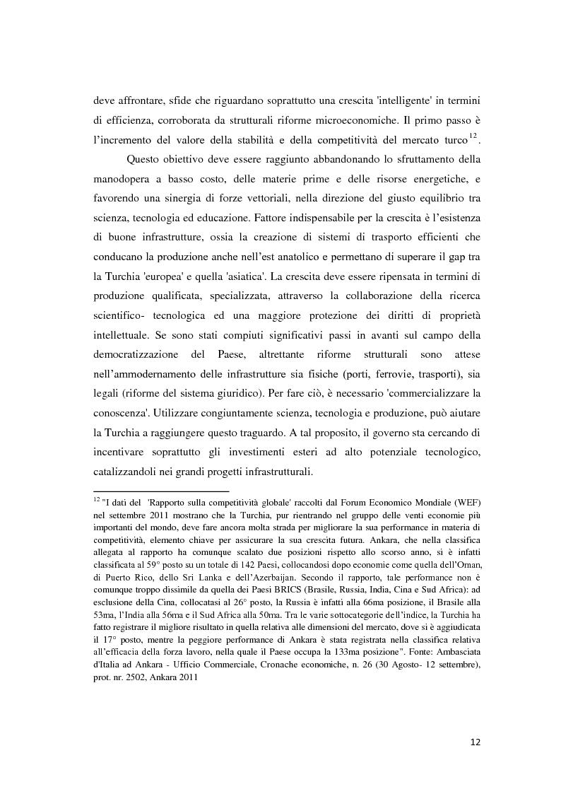 Anteprima della tesi: Il trattamento degli investimenti diretti esteri in Turchia con particolare riferimento agli investitori italiani, Pagina 10