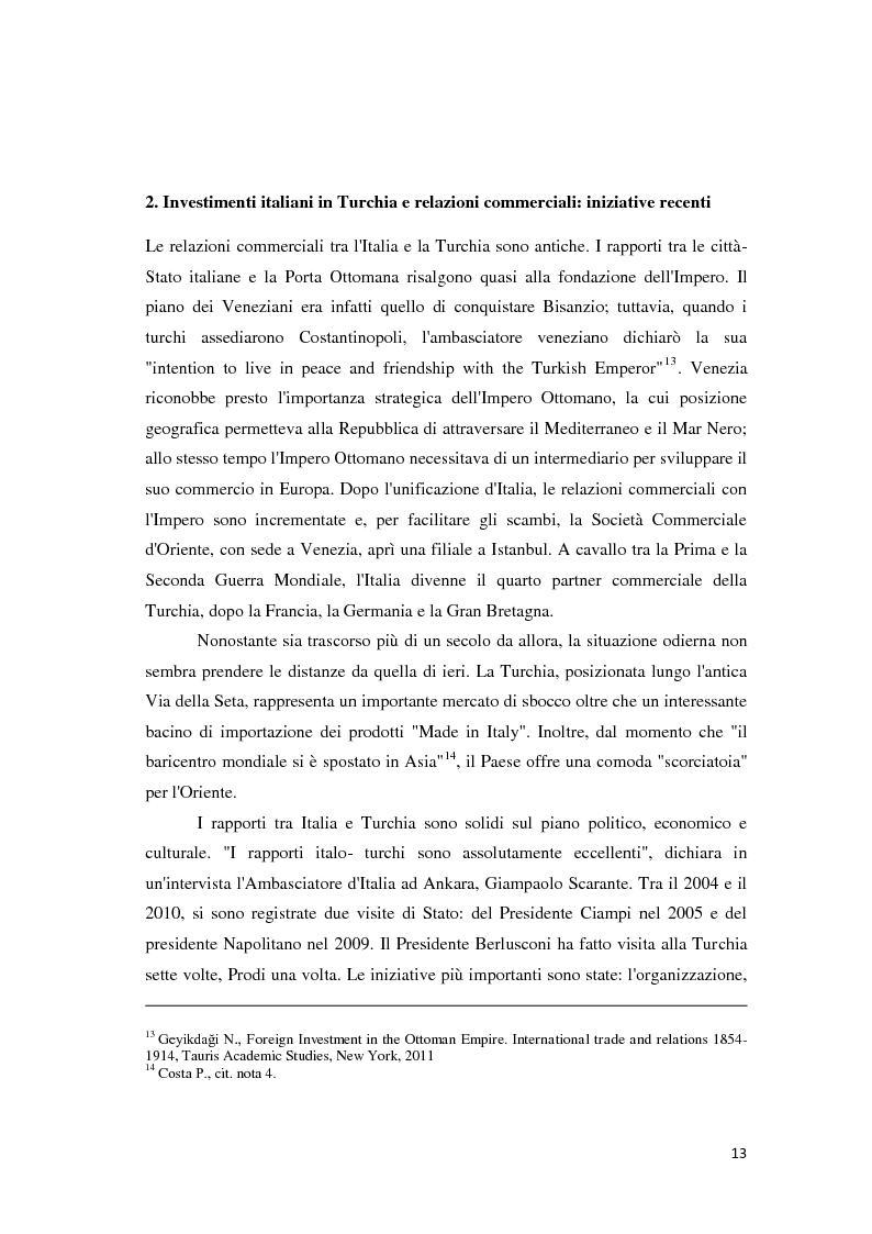 Anteprima della tesi: Il trattamento degli investimenti diretti esteri in Turchia con particolare riferimento agli investitori italiani, Pagina 11