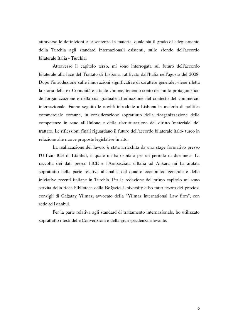 Anteprima della tesi: Il trattamento degli investimenti diretti esteri in Turchia con particolare riferimento agli investitori italiani, Pagina 4