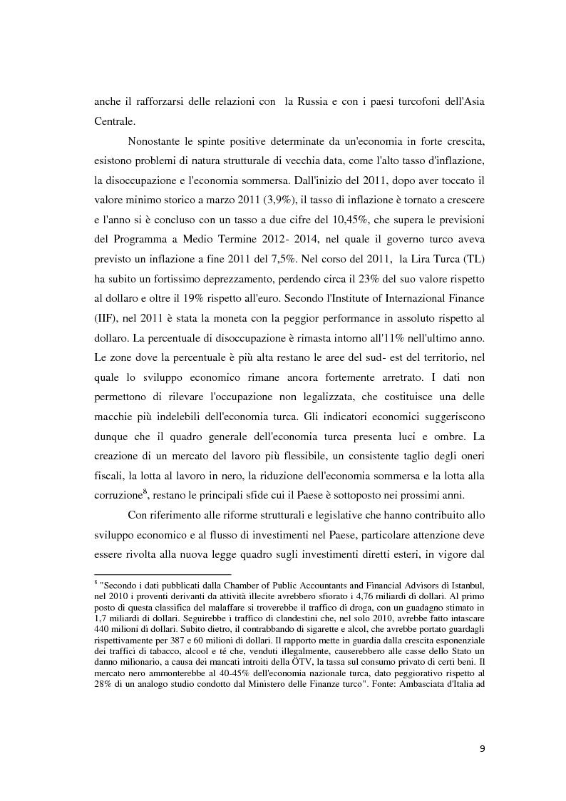 Anteprima della tesi: Il trattamento degli investimenti diretti esteri in Turchia con particolare riferimento agli investitori italiani, Pagina 7
