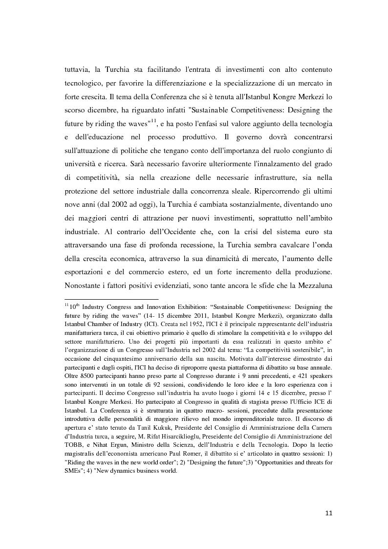 Anteprima della tesi: Il trattamento degli investimenti diretti esteri in Turchia con particolare riferimento agli investitori italiani, Pagina 9