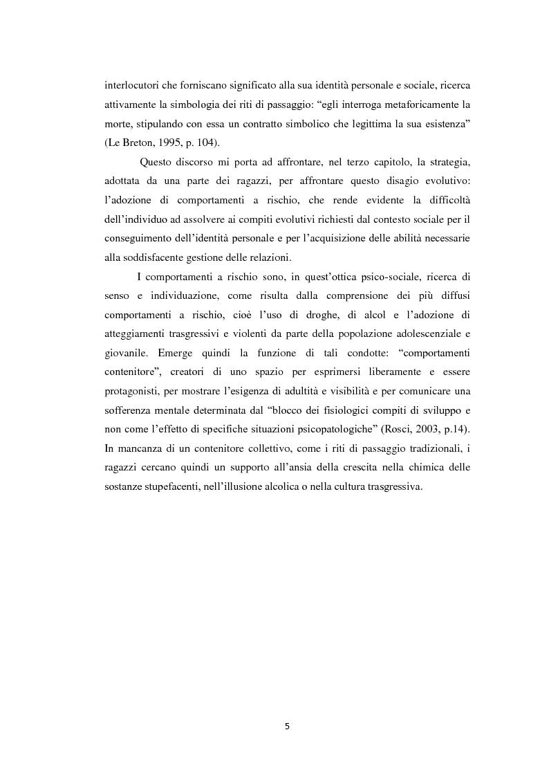 Anteprima della tesi: Compiti evolutivi dei nuovi adolescenti: alla ricerca dell'identità nella società contemporanea, Pagina 4