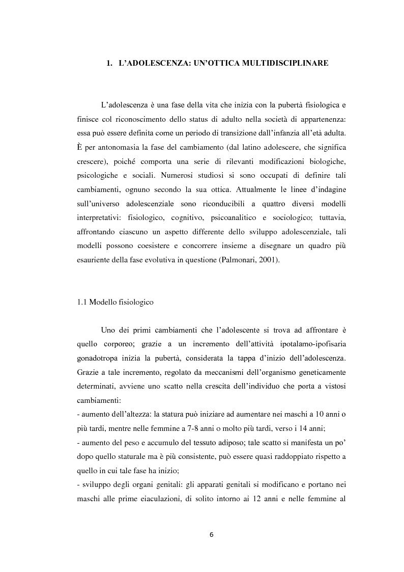 Anteprima della tesi: Compiti evolutivi dei nuovi adolescenti: alla ricerca dell'identità nella società contemporanea, Pagina 5