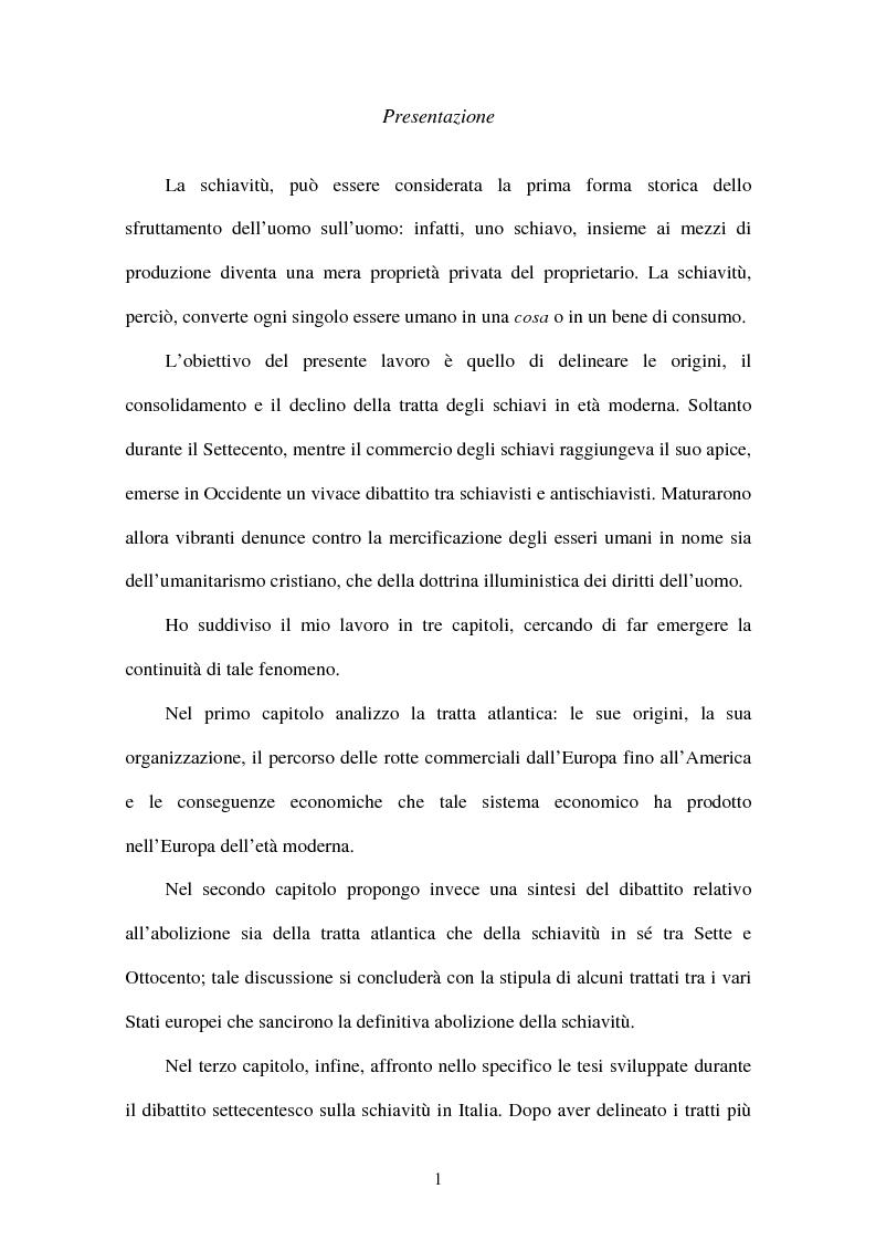 Anteprima della tesi: L'illuminismo e la tratta atlantica degli schiavi: Matteo Angelo Galdi, Pagina 2