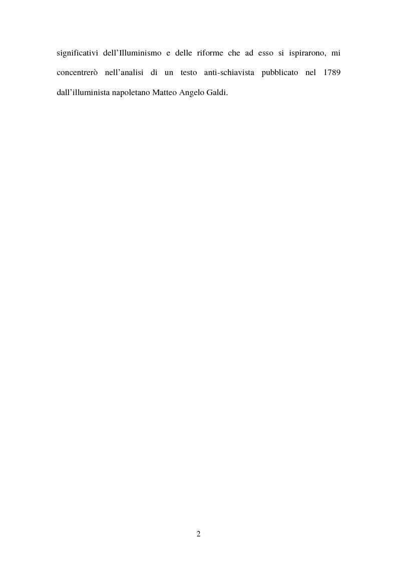 Anteprima della tesi: L'illuminismo e la tratta atlantica degli schiavi: Matteo Angelo Galdi, Pagina 3