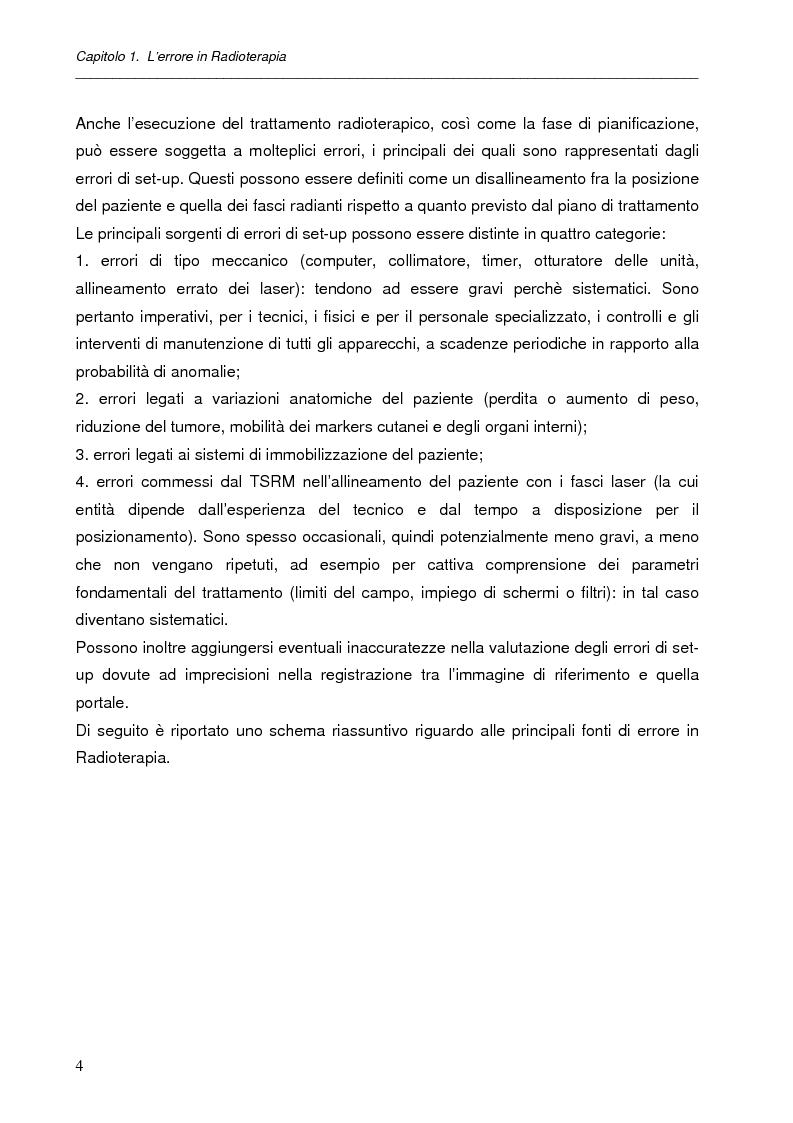Anteprima della tesi: Impatto dell'IGRT nel trattamento del carcinoma prostatico: analisi degli errori di set-up e valutazioni dosimetriche, Pagina 3
