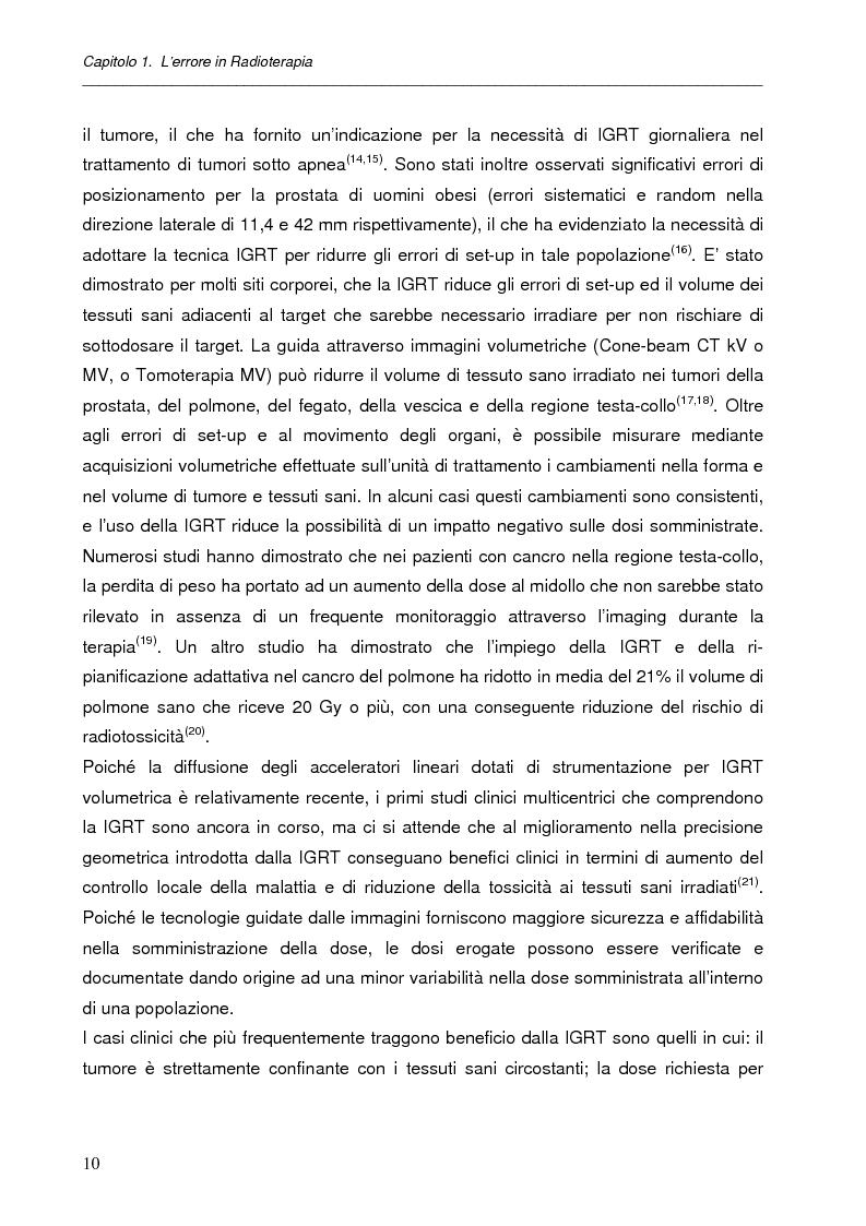 Anteprima della tesi: Impatto dell'IGRT nel trattamento del carcinoma prostatico: analisi degli errori di set-up e valutazioni dosimetriche, Pagina 9
