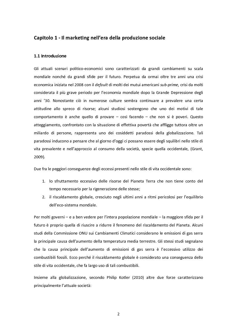 Anteprima della tesi: Marketing 3.0 & e Sviluppo Sostenibile, Pagina 2