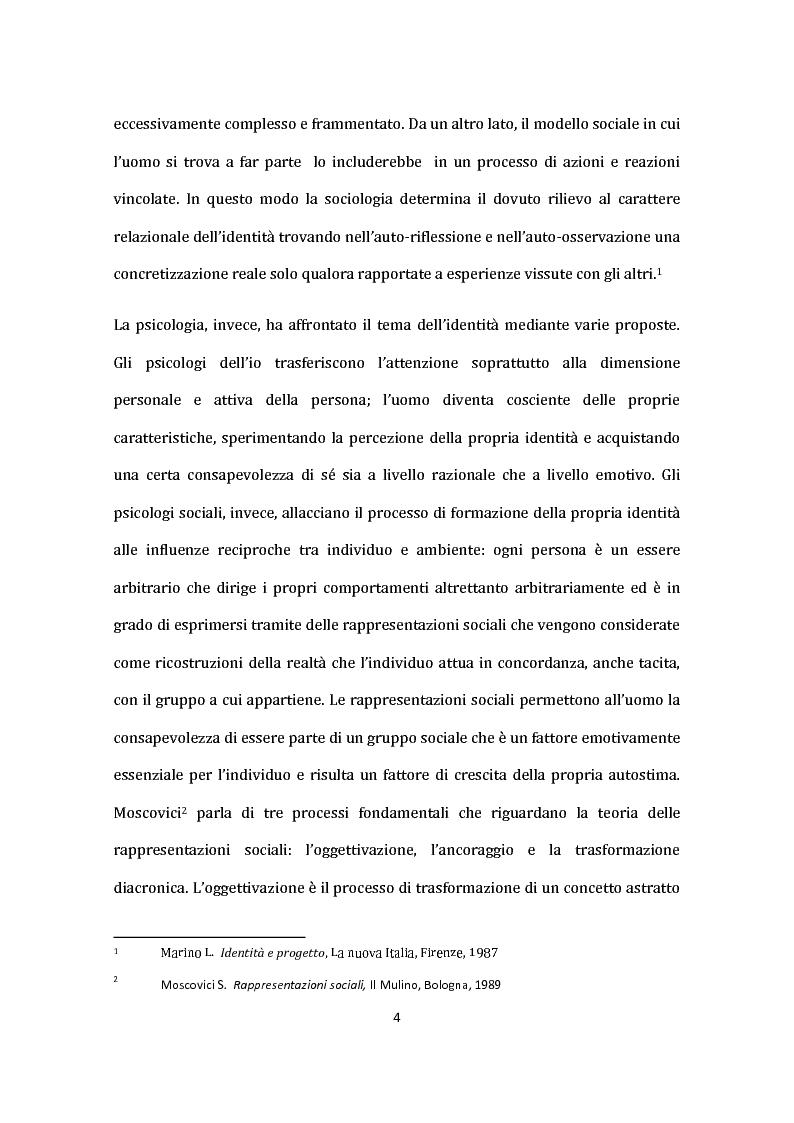 Anteprima della tesi: Identità nel Web: internauti in rotta verso nuovi sé., Pagina 5