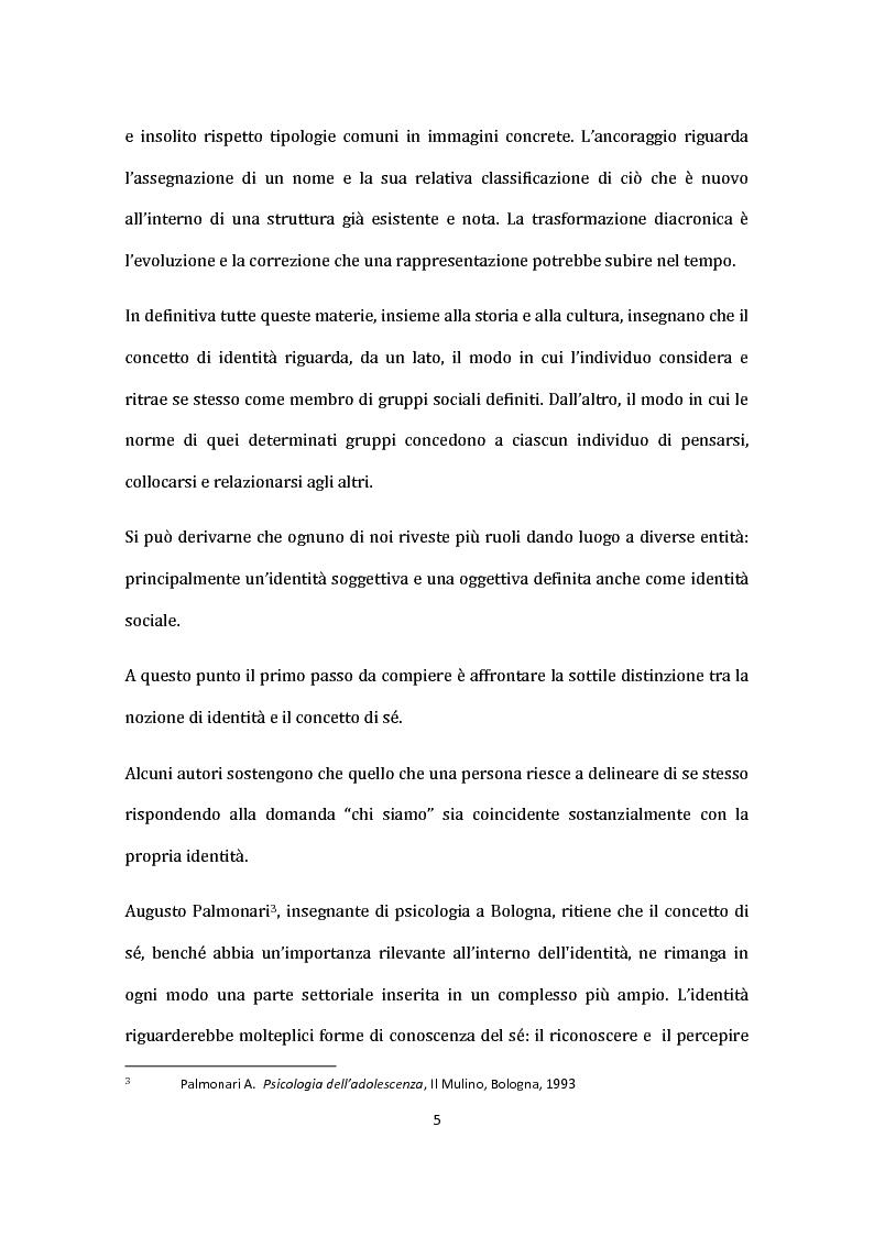 Anteprima della tesi: Identità nel Web: internauti in rotta verso nuovi sé., Pagina 6