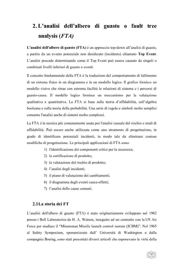 Anteprima della tesi: Risoluzione integrata di alberi di guasto, Pagina 2