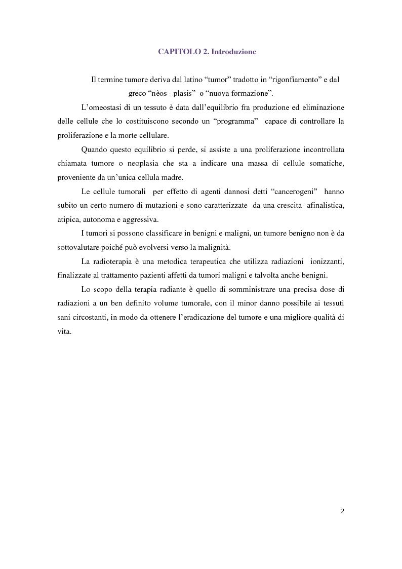 Anteprima della tesi: Tecniche di radioterapia stereotassica - Aggiornamenti tecnici, Pagina 3