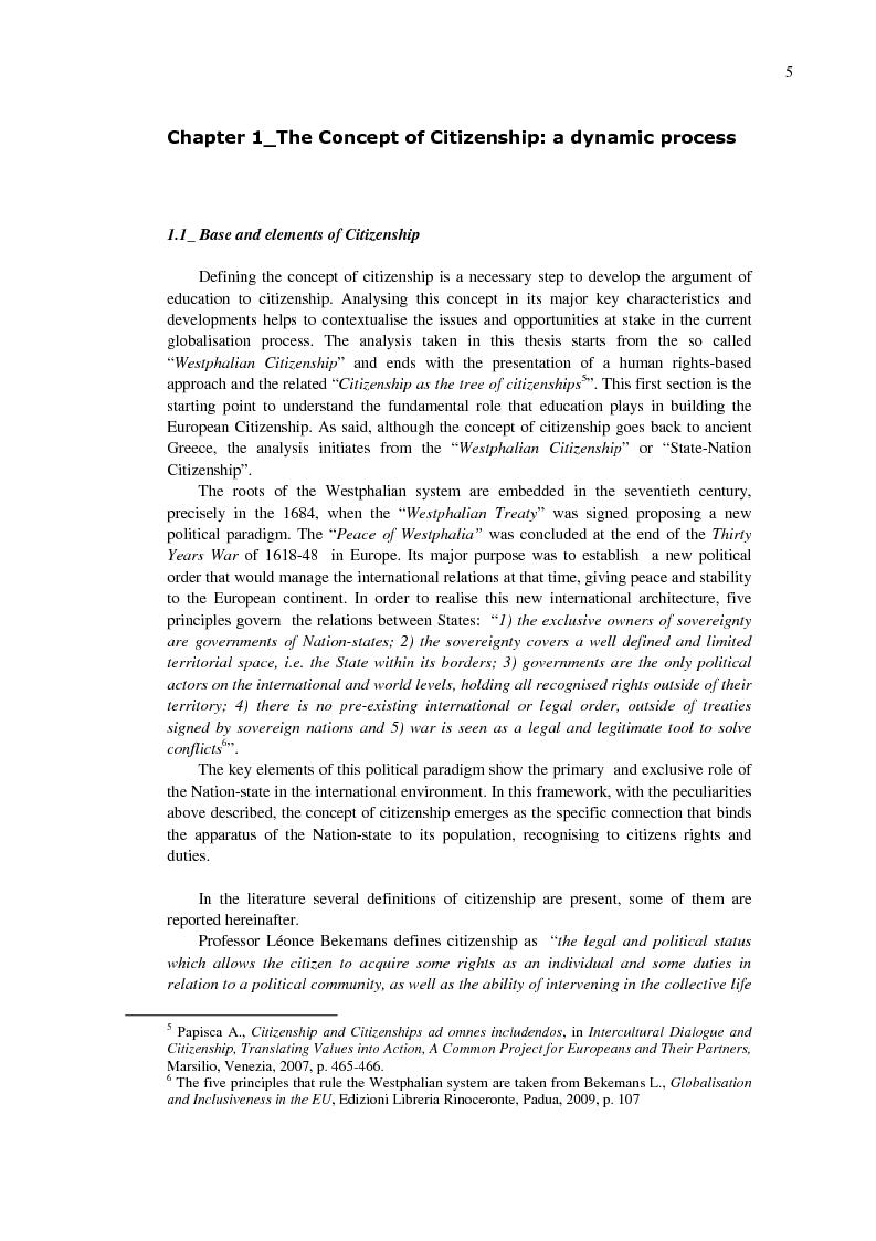 Anteprima della tesi: EU Citizenship Building: The Role of Education and its Governance, Pagina 5