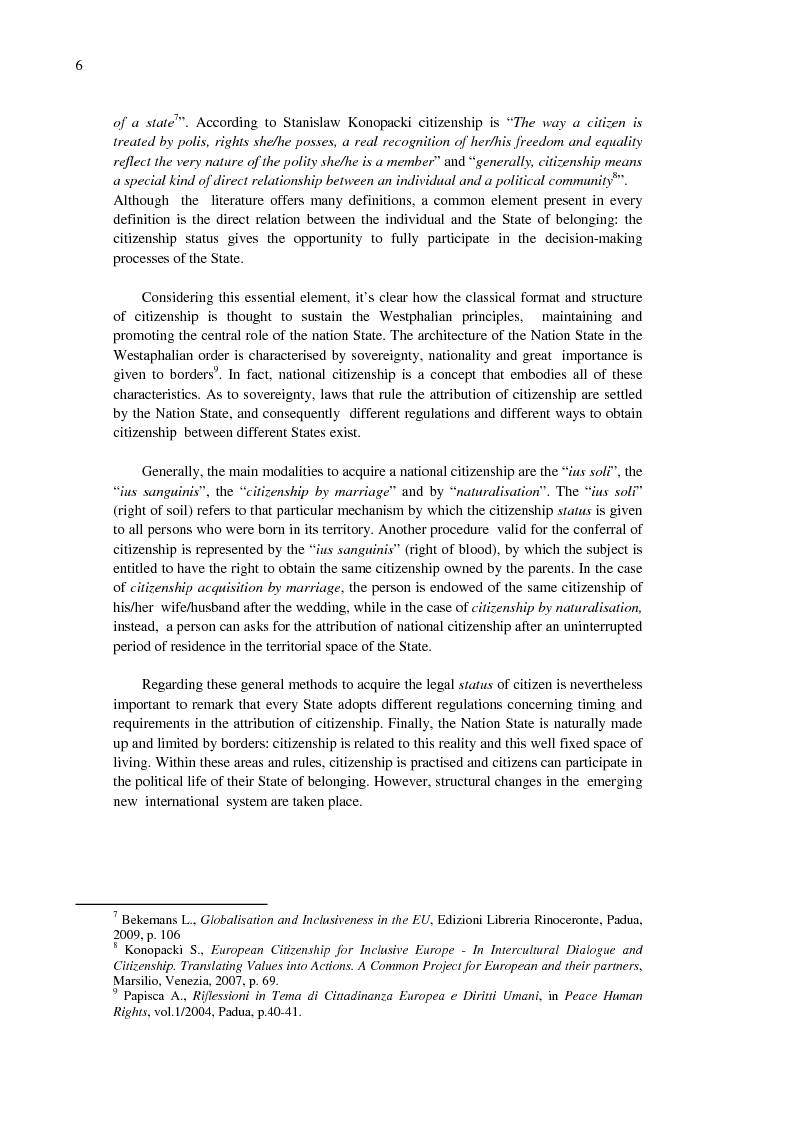 Anteprima della tesi: EU Citizenship Building: The Role of Education and its Governance, Pagina 6