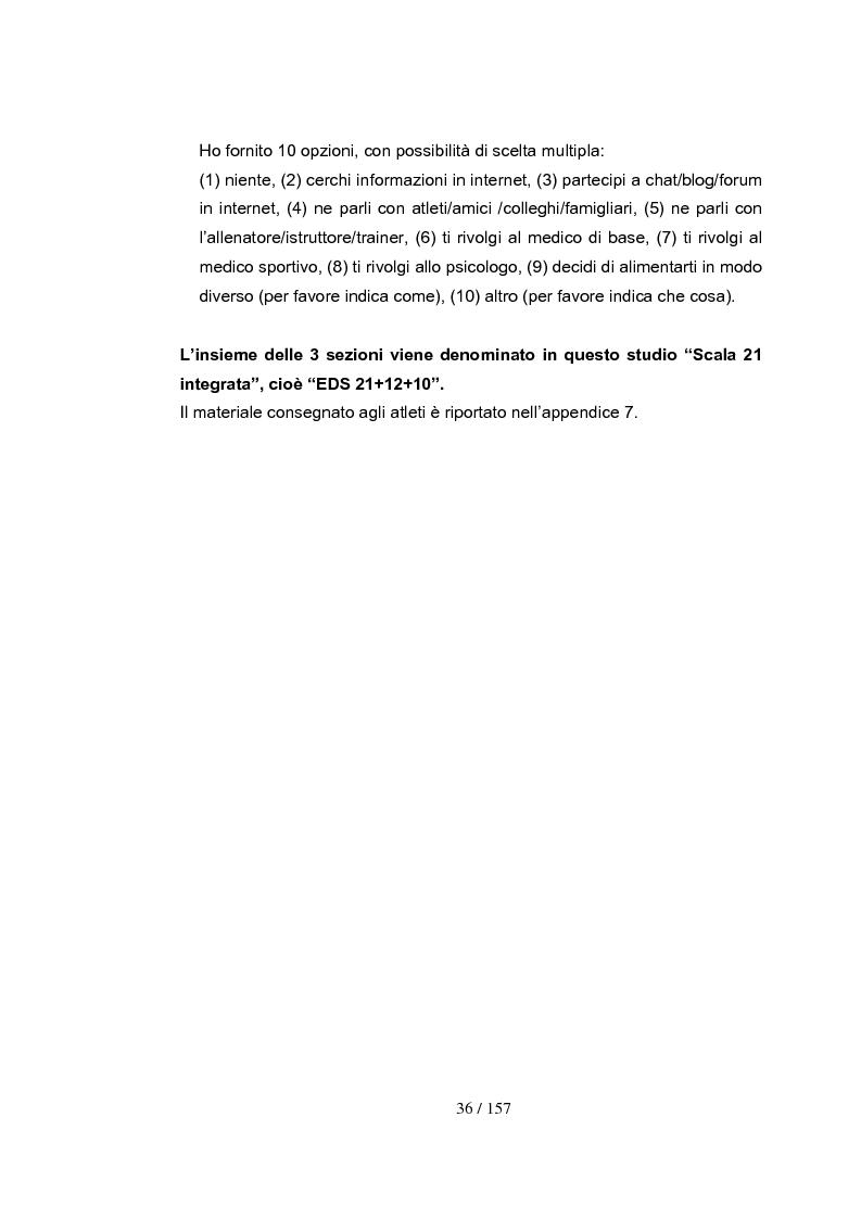 Anteprima della tesi: Dipendenza da esercizio fisico: come riconoscerla, come intervenire. Somministrazione di test a 4 gruppi sperimentali, Pagina 6