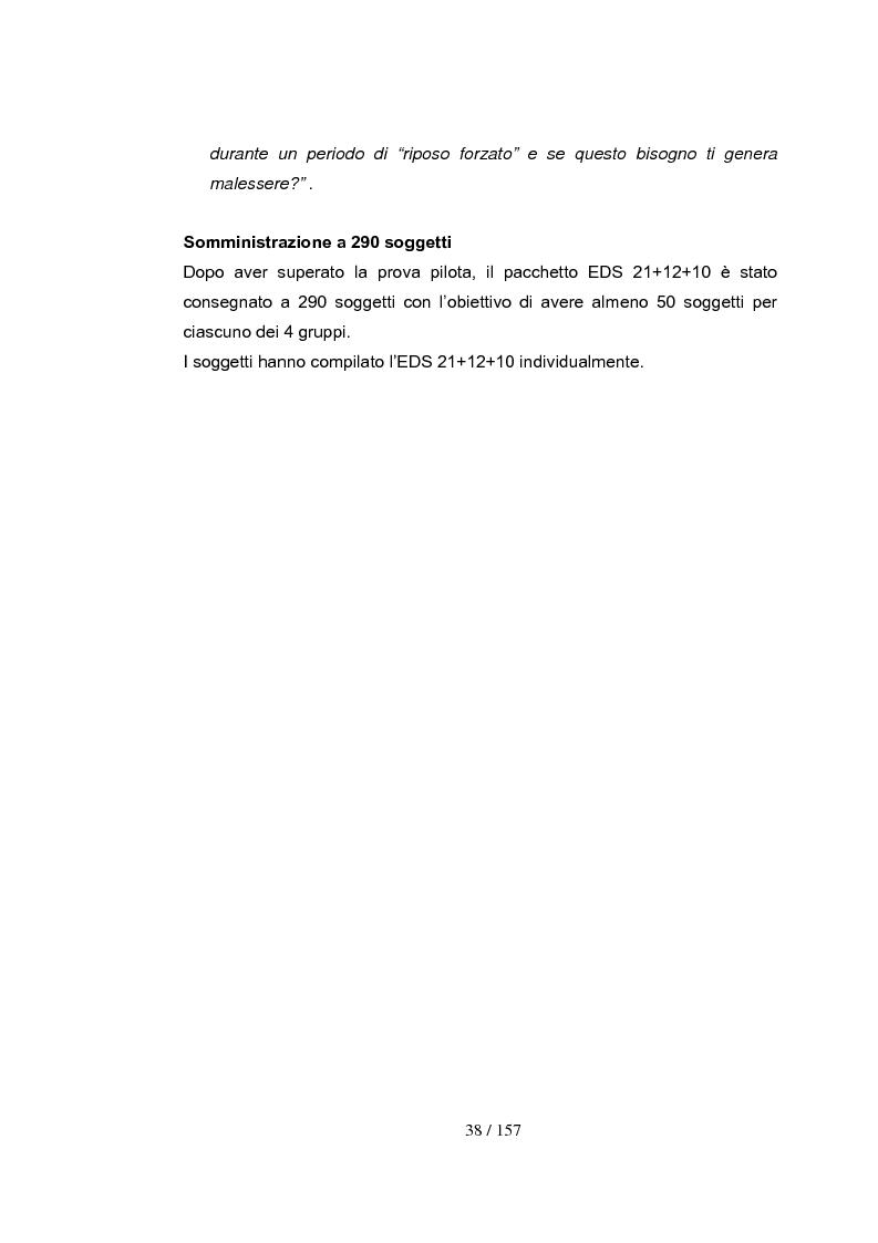 Anteprima della tesi: Dipendenza da esercizio fisico: come riconoscerla, come intervenire. Somministrazione di test a 4 gruppi sperimentali, Pagina 8