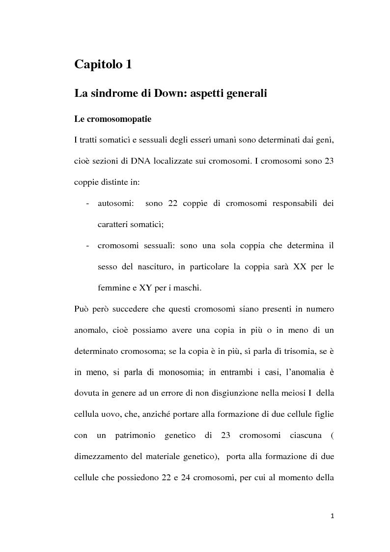 Anteprima della tesi: Patogenesi molecolare della Sindrome di Down, Pagina 2
