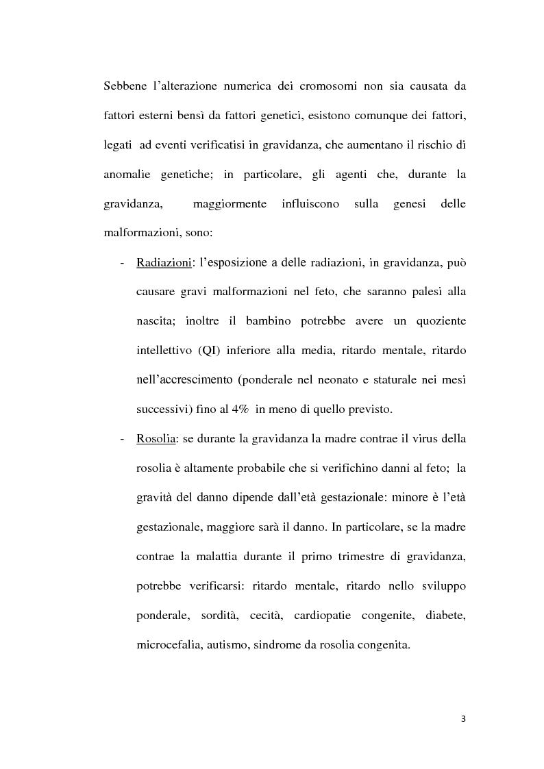 Anteprima della tesi: Patogenesi molecolare della Sindrome di Down, Pagina 4