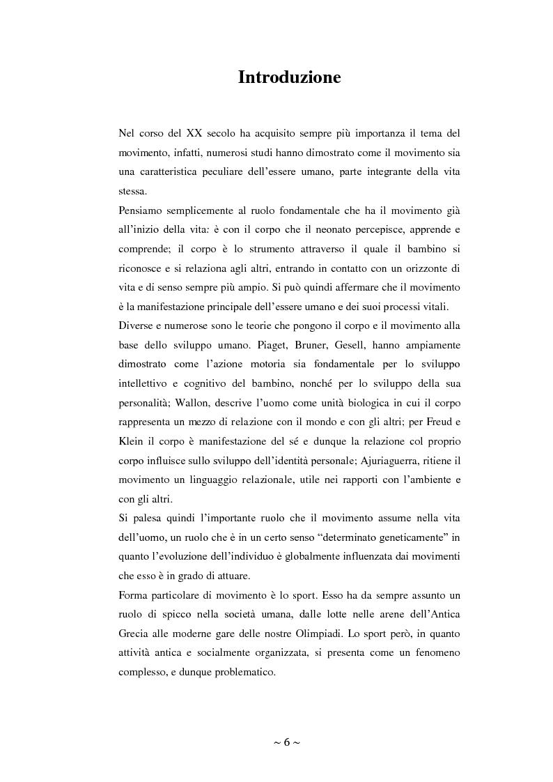 Anteprima della tesi: Lo sport: mezzo privilegiato nell'integrazione sociale del diversamente abile. Un'indagine esplorativa, Pagina 2