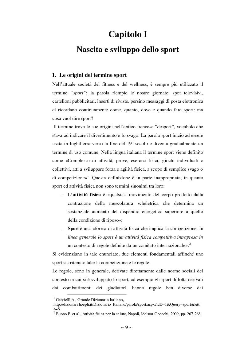 Anteprima della tesi: Lo sport: mezzo privilegiato nell'integrazione sociale del diversamente abile. Un'indagine esplorativa, Pagina 5