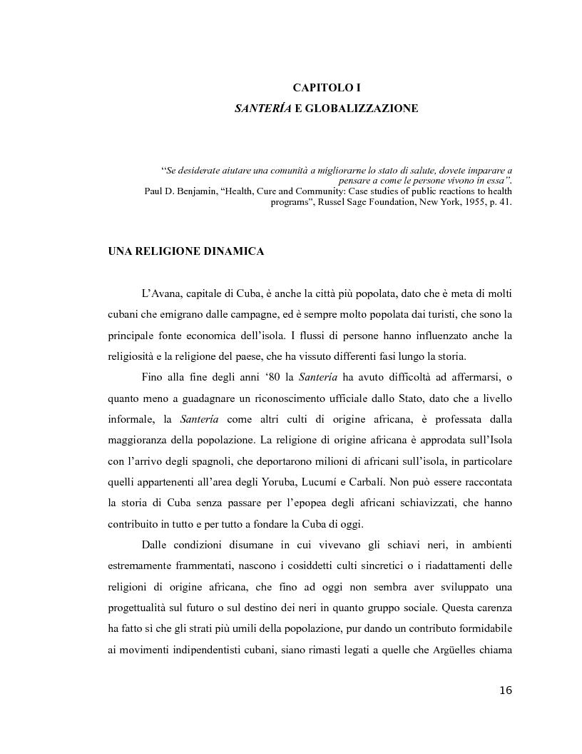 Anteprima della tesi: Esperienza di malattia e percorsi terapeutici nella Santería cubana riguardo all'HIV/aids. Una prospettiva di antropologia visuale., Pagina 12