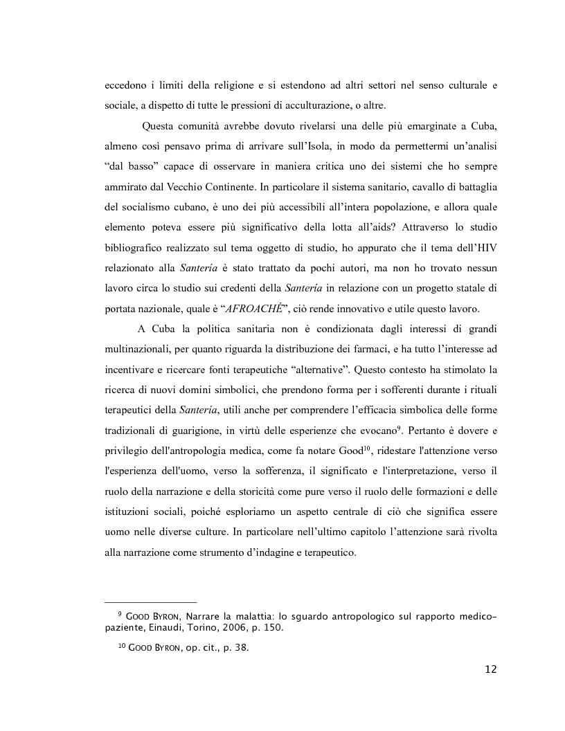 Anteprima della tesi: Esperienza di malattia e percorsi terapeutici nella Santería cubana riguardo all'HIV/aids. Una prospettiva di antropologia visuale., Pagina 8