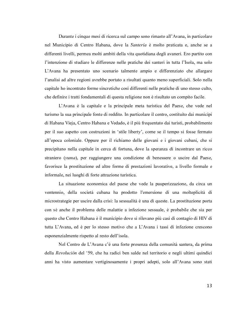 Anteprima della tesi: Esperienza di malattia e percorsi terapeutici nella Santería cubana riguardo all'HIV/aids. Una prospettiva di antropologia visuale., Pagina 9