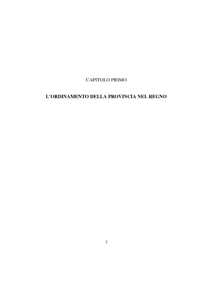 Anteprima della tesi: La Provincia. Ruolo storico e dibattito attuale con riferimento al caso di Perugia, Pagina 6