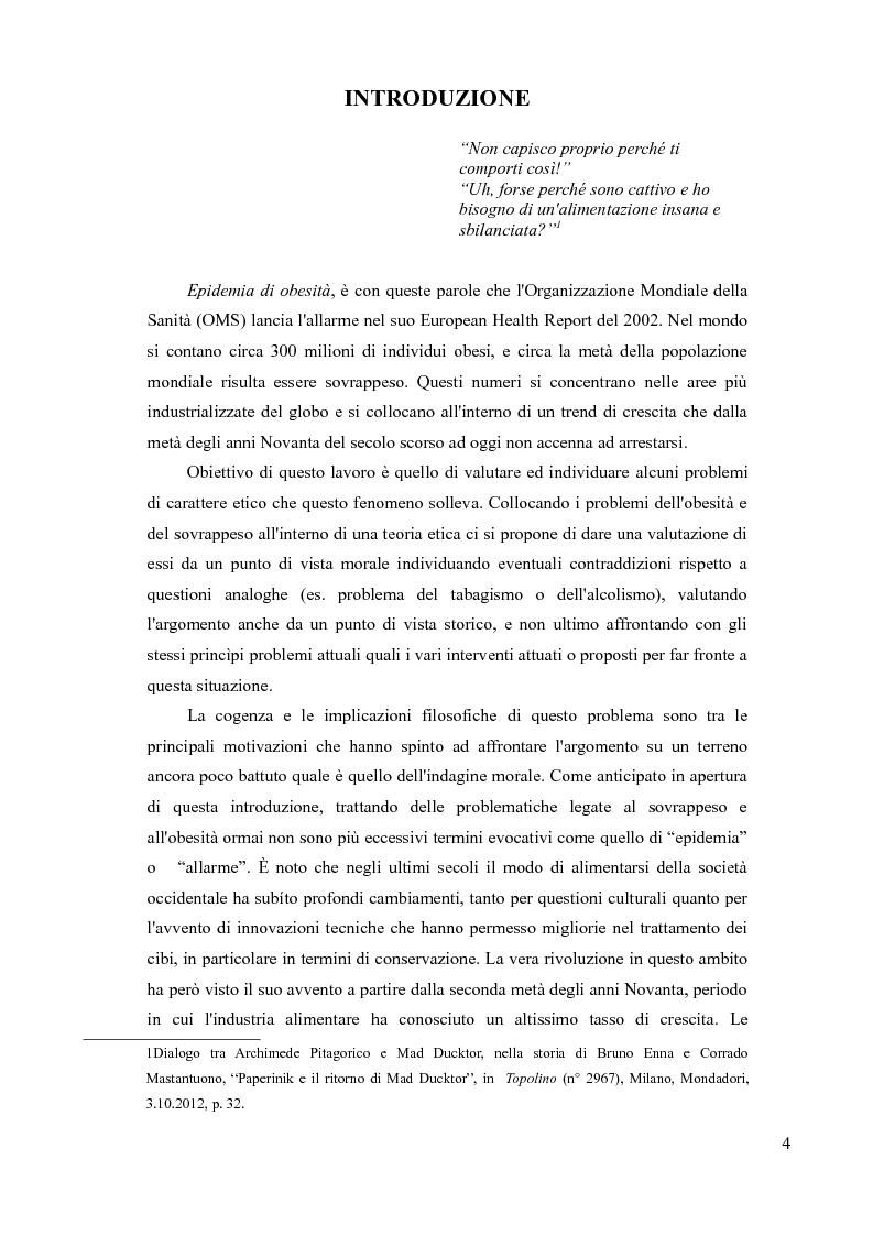 Anteprima della tesi: Sovrappeso e obesità: implicazioni etiche, Pagina 2