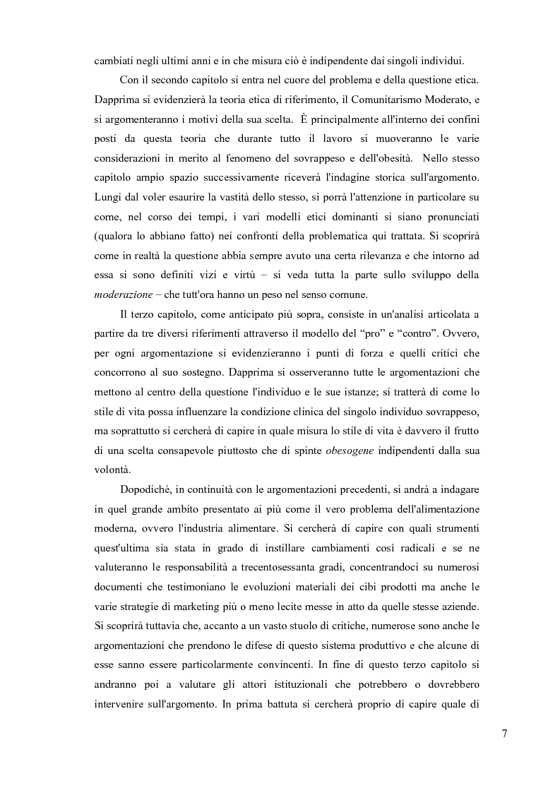 Anteprima della tesi: Sovrappeso e obesità: implicazioni etiche, Pagina 5