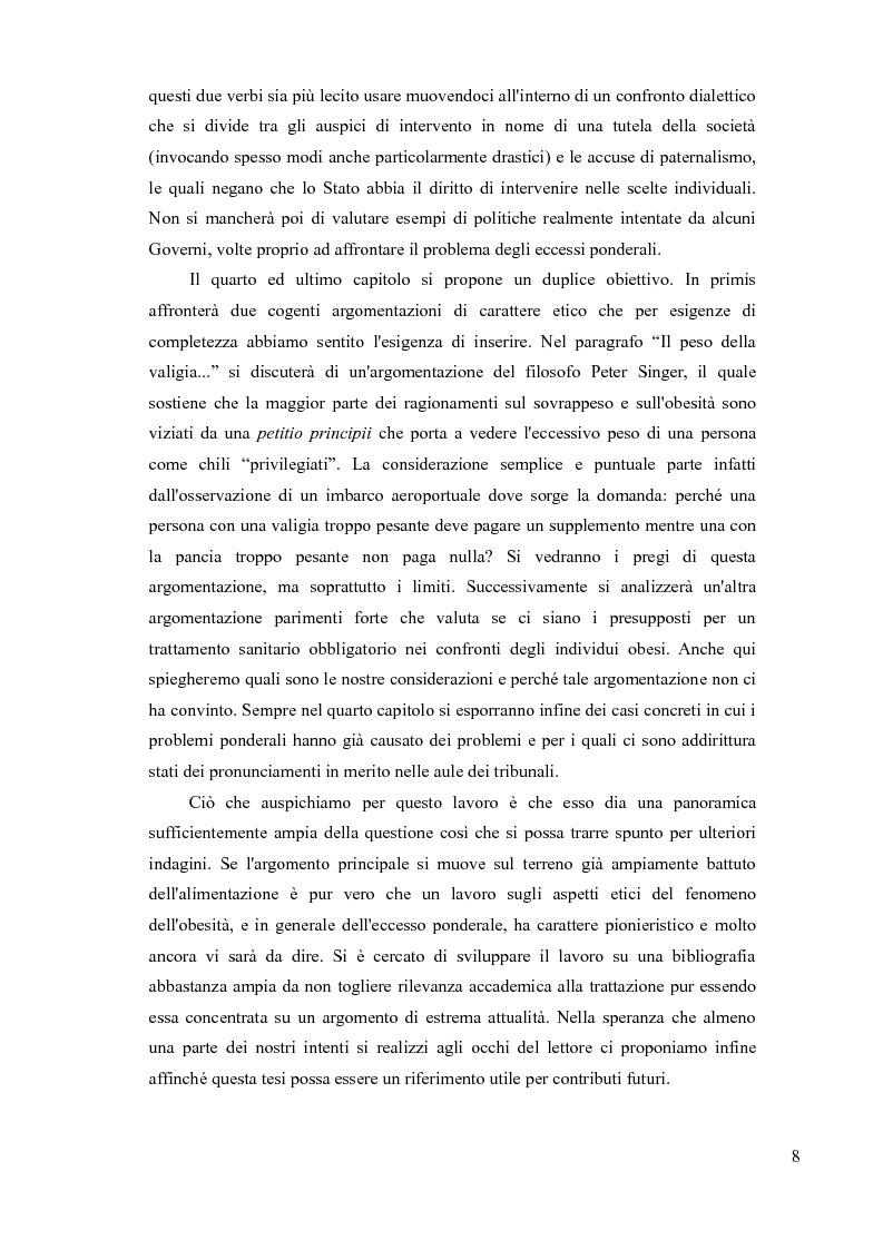 Anteprima della tesi: Sovrappeso e obesità: implicazioni etiche, Pagina 6