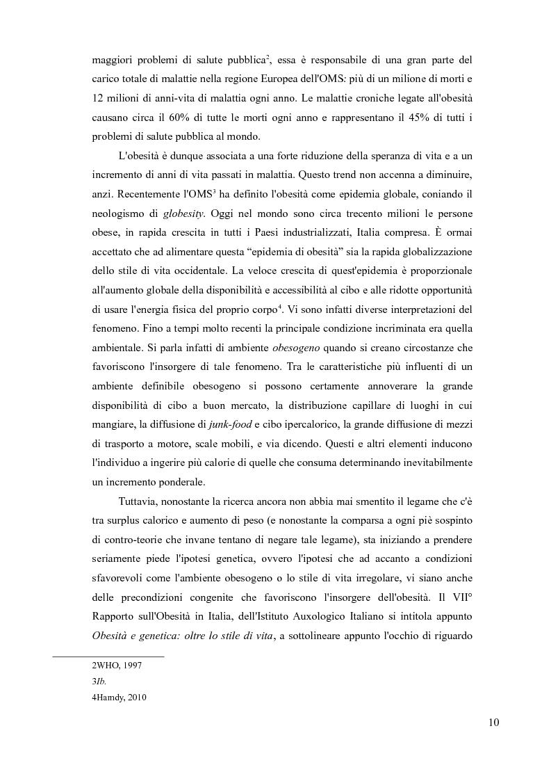 Anteprima della tesi: Sovrappeso e obesità: implicazioni etiche, Pagina 8