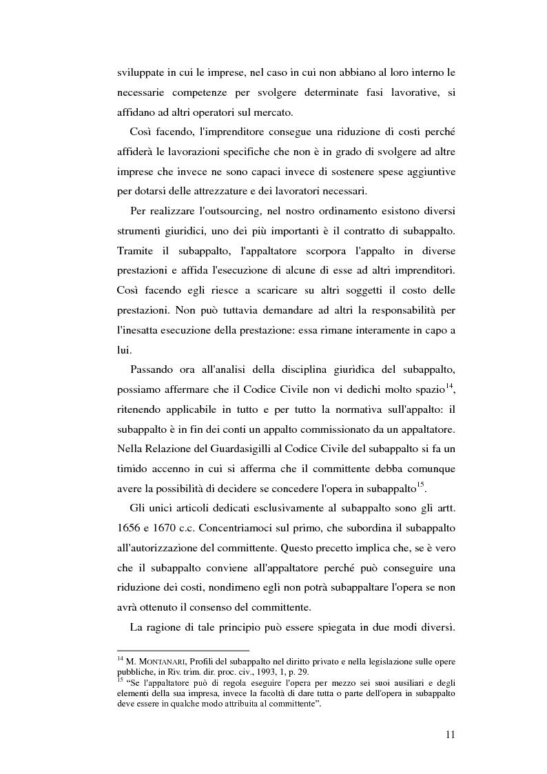Anteprima della tesi: Subappalto e mafia: analisi della disciplina a tutela dei subcontratti dalle infiltrazioni mafiose., Pagina 10