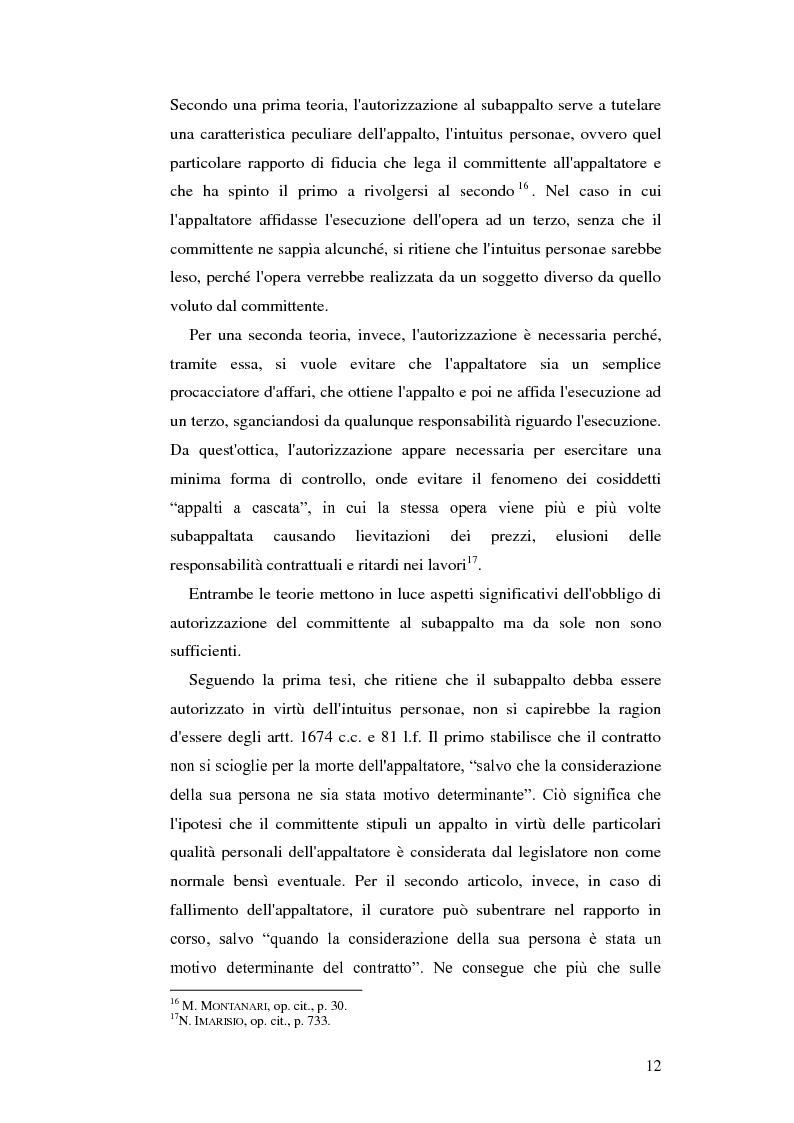 Anteprima della tesi: Subappalto e mafia: analisi della disciplina a tutela dei subcontratti dalle infiltrazioni mafiose., Pagina 11