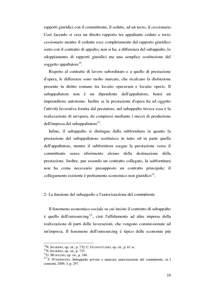 Anteprima della tesi: Subappalto e mafia: analisi della disciplina a tutela dei subcontratti dalle infiltrazioni mafiose., Pagina 9